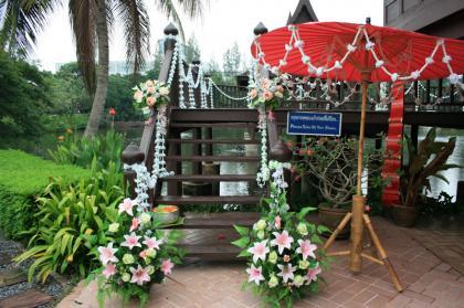 บรรยากาศงานแต่งในเรือนไทย